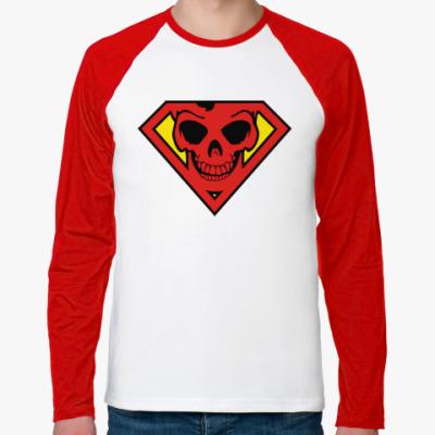 Футболка реглан с длинным рукавом Skull Superman