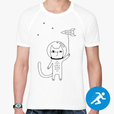 Спортивная футболка Космический кот