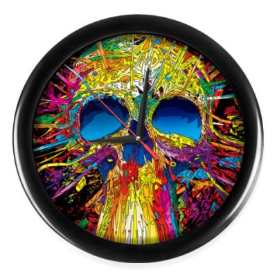 Настенные часы Skull