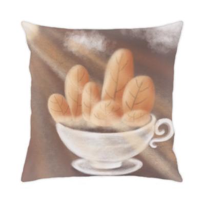 Подушка осенний кофеек