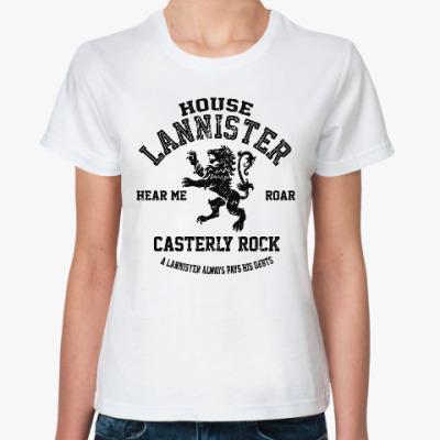 Классическая футболка Игра престолов.Ланнистеры