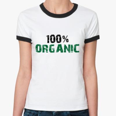 Женская футболка Ringer-T 100% ORGANIC