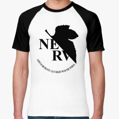 Футболка реглан Neon Genesis Evangelion NERV