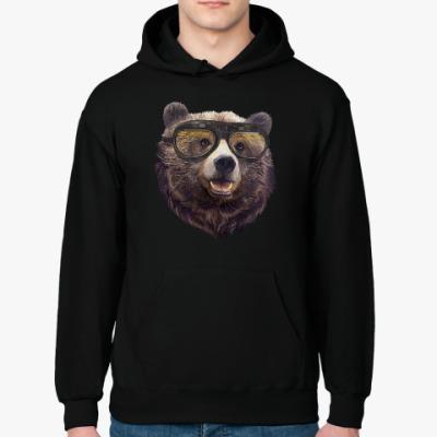 Толстовка худи Медведь в очках