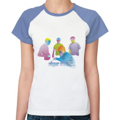Женская футболка реглан  Sigur Ros