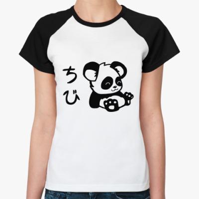 Женская футболка реглан Panda  Ж()