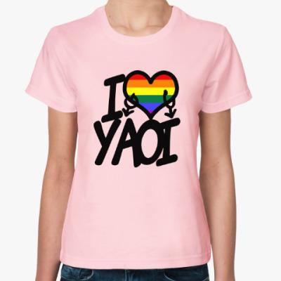 Женская футболка I love yaoi (Boys' Love)