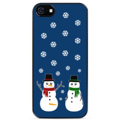 Чехол для iPhone Happy Snowman