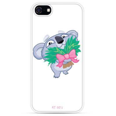 Чехол для iPhone Цветочный Коала
