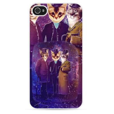 Чехол для iPhone Три космических кота