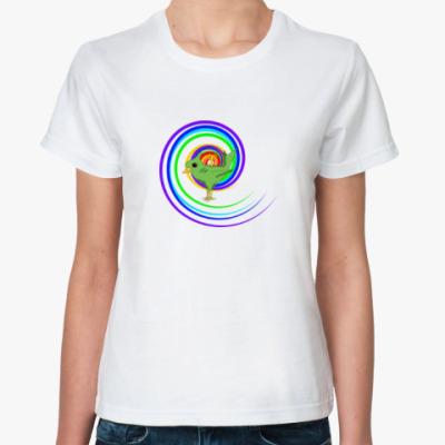Классическая футболка Заводная птичка