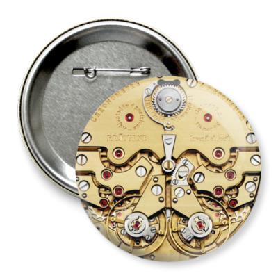 Значок 75мм Часы