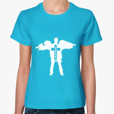 Женская футболка Здесь был Кас - Supernatural