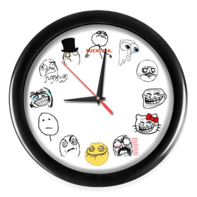 Настенные часы Trollface (трольфэйс)