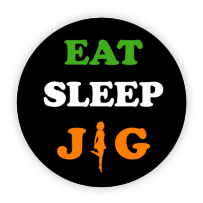 Костер (подставка под кружку) Eat, sleep, jig