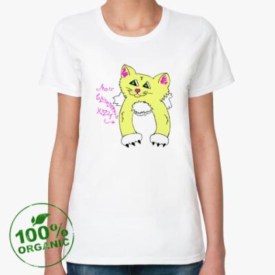 Женская футболка из органик-хлопка Мой внутренний кот (Солнушек)