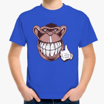 Детская футболка Веселая обезьяна