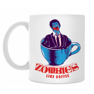 Кружка Zombies Like Coffee