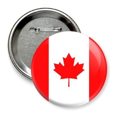 Значок 75мм Канада, Canada
