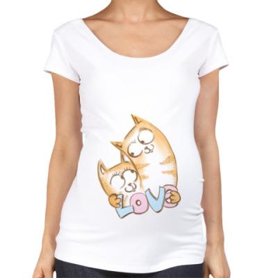 Футболка для беременных Коты