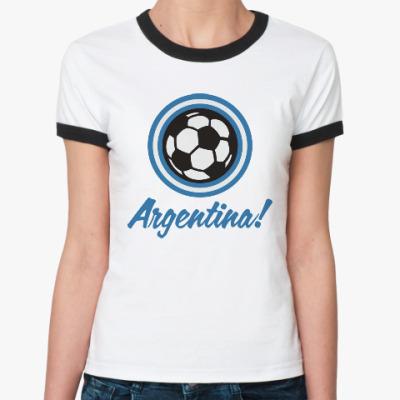 Женская футболка Ringer-T Аргентина