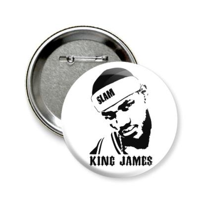 Значок 58мм King James