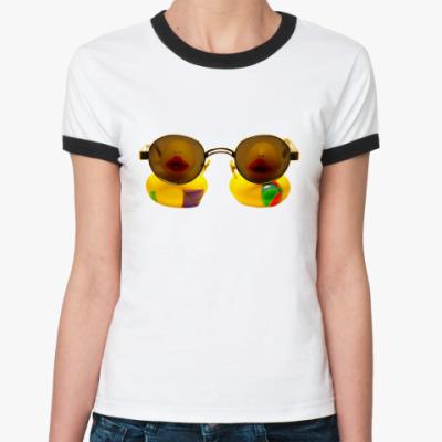 Женская футболка Ringer-T Уточки тоже на вас смотрят