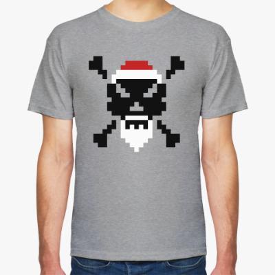 Футболка X-mas Pixel Skull