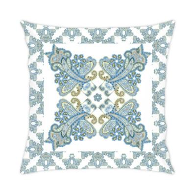 Подушка Традиционный дизайн с персидскими огурцами