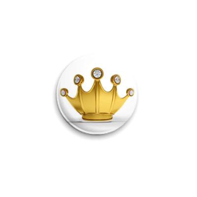 Значок 25мм  Корона