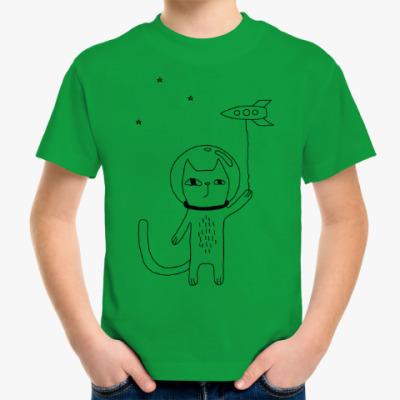Детская футболка Космический кот