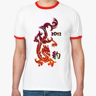 Футболка Ringer-T Огненный дракон 2012