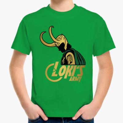 Детская футболка  Мстители Армия Локи