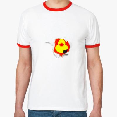 Футболка Ringer-T Уточка вместо сердца