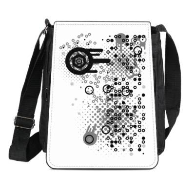 Сумка-планшет Круги и точки