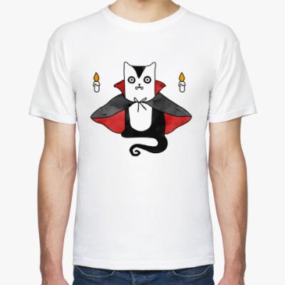Футболка Дракула кот – вампир
