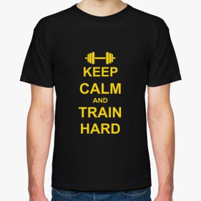 Футболка Train hard