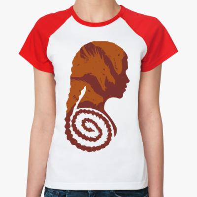 Женская футболка реглан Драконы Кхалиси