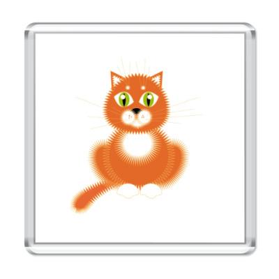 Магнит   рыжий кот