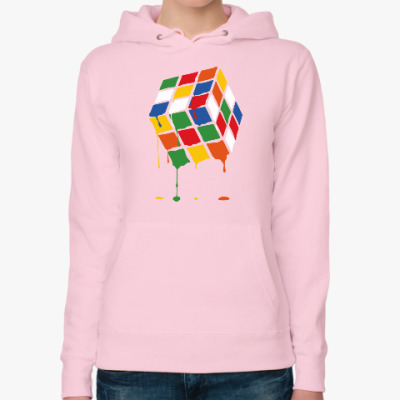 Женская толстовка худи Кубик Рубика   Rubiks Cube