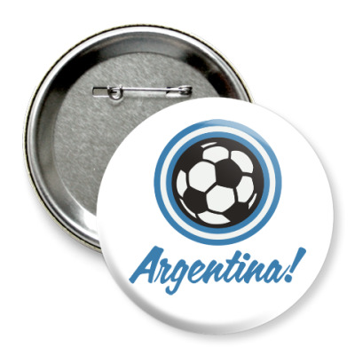 Значок 75мм Аргентина