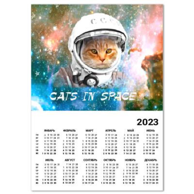 Календарь котейка космонавт