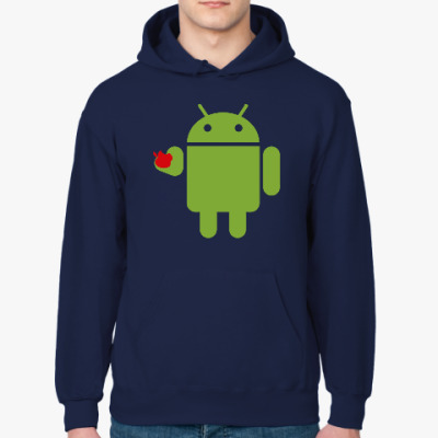 Толстовка худи Андроид с яблоком