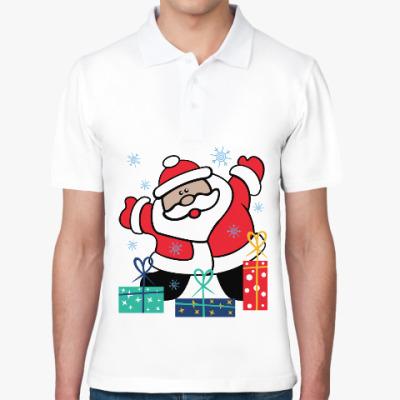 Рубашка поло Дед Мороз с подарками