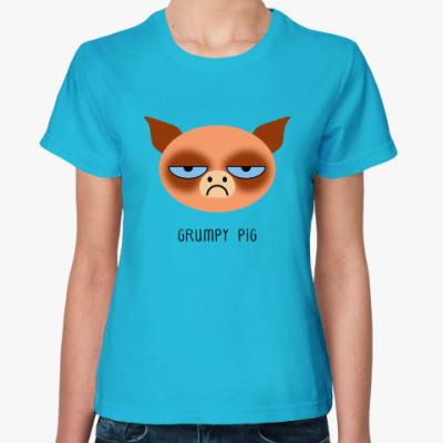 Женская футболка Grumpy Animals