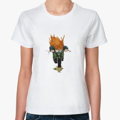 Классическая футболка Гонщица