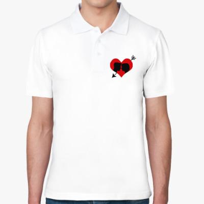 Рубашка поло Сердце хочет любви