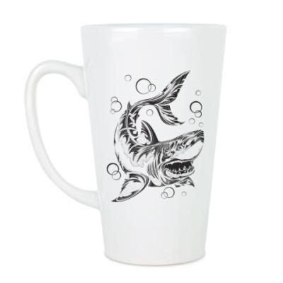 Чашка Латте акула