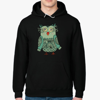 Толстовка худи Зеленая лесная совушка