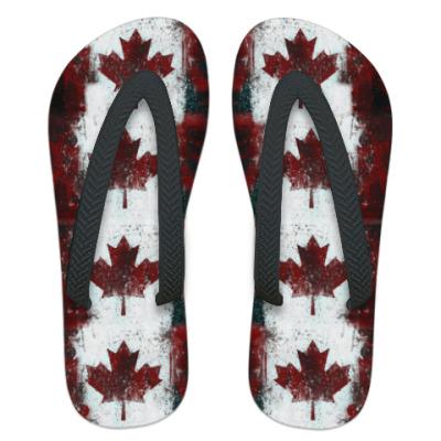 Шлепанцы (сланцы) Канада Флаг